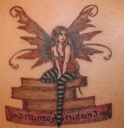 Close up of the tattoo